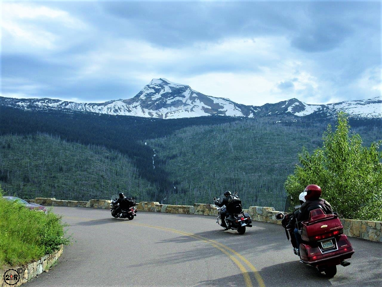 Going to the Sun Road  Glacier National Park  TWO UP RIDERS
