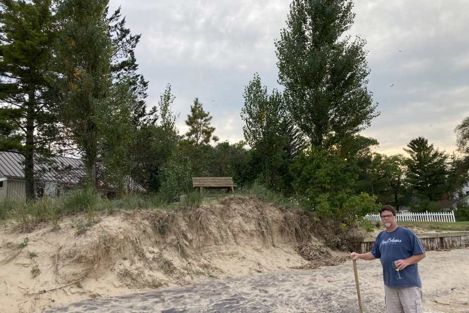 Beach Erosion on Saginaw Bay