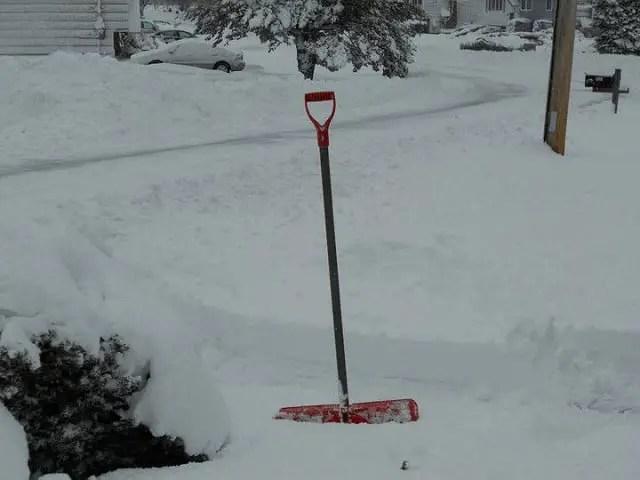 Snow Shovel in Deep Snow