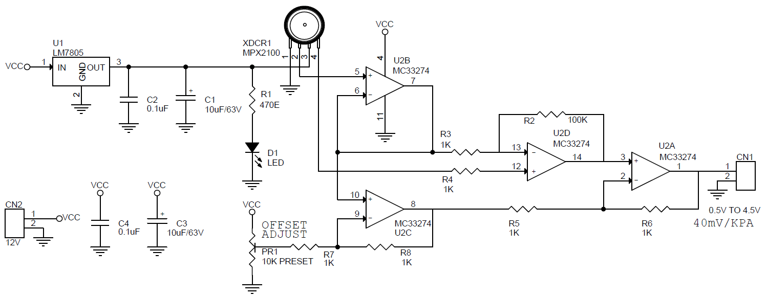 Signal-conditioning-amplifier-for-pressure-sensor-mpx2100