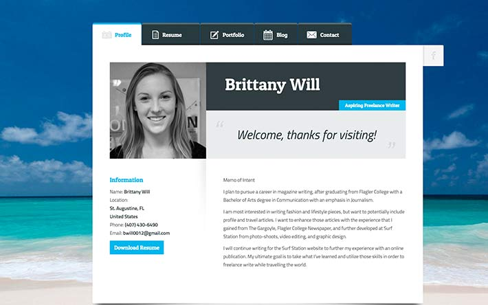 Beau Resume Website Example 15 Best Html Resume Templates For Awesome
