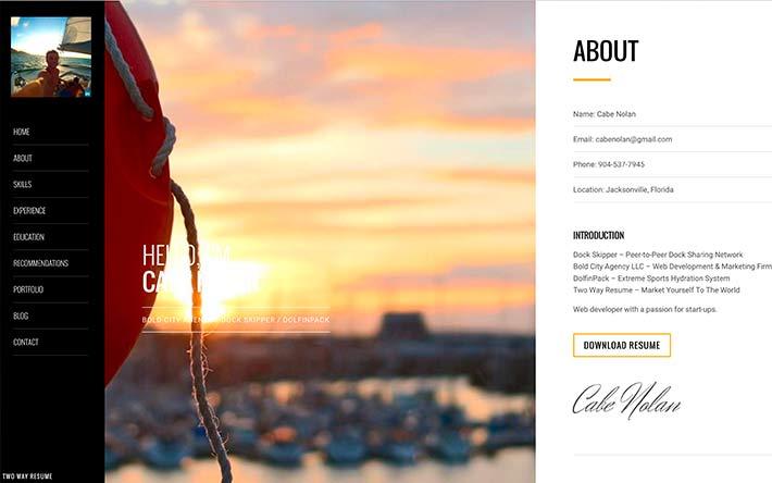 Create A Resume Website Build A Personal Website & Portfolio