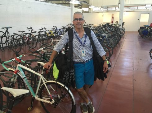 Arthur Orsini manager of the VGH Cycling Centre