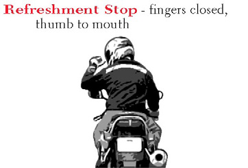 Motorcycle: Motorcycle Hand Signals