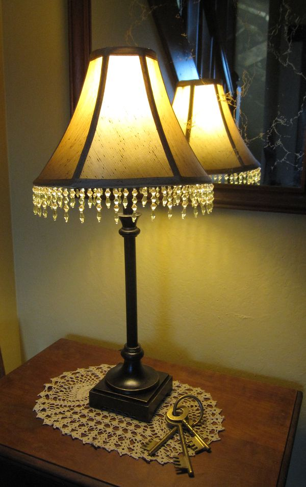 Two Wildflowers Beaded Fringe Lamp Shade