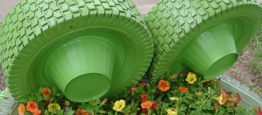 Tires Made Planters Out Recycled