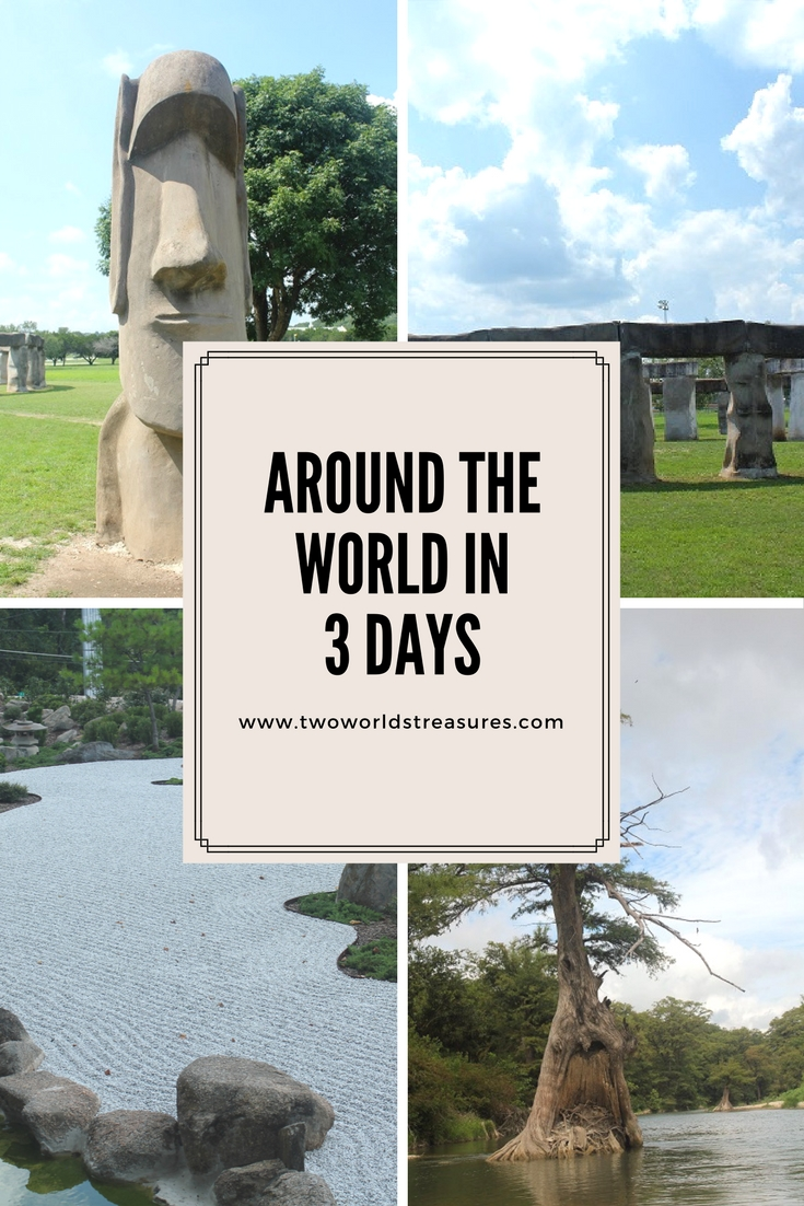 Around the World in 3 Days - pinterest image - Two Worlds Treasures