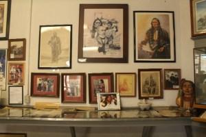 Quanah Parker memorabilia at Depot Museum.