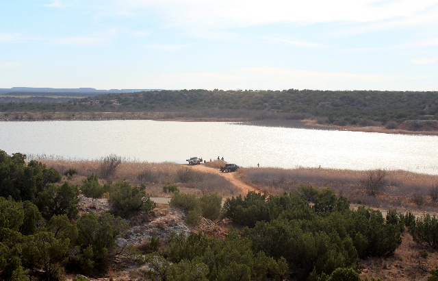 A view from the top of Copper Breaks Lake.