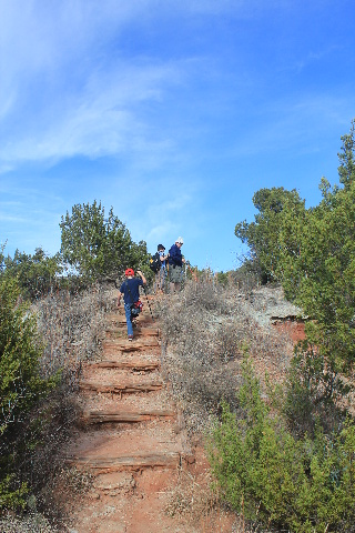 Copper Breaks State Park - Juniper Ridge Nature Trail - up again