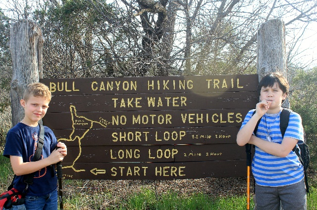 At the beginning of Bull Canyon Trail.