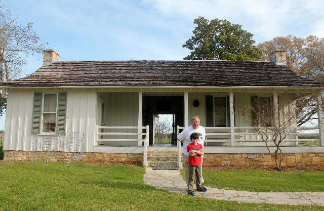 Visiting the Texas White House - Stonewall, TX - reconstructed birthplace - Two Worlds Treasures