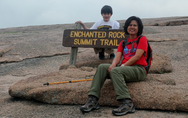 Enchanted Rock - summit trail - Two Worlds Treasures