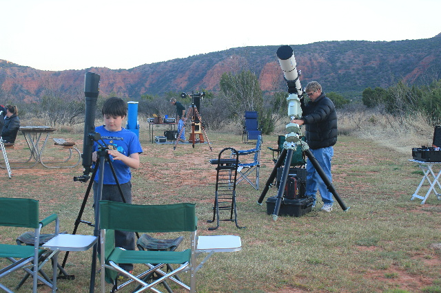 My wannabe Austronaut son decided to set up his telescope during Constellations in the Canyon at Caprock Canyons SP, TX.