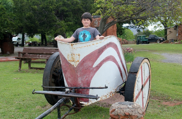 Wichita Mountains Wildlife Refuge: rode a chariot at Holy City.