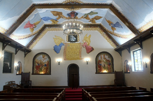 Wichita Mountains Wildlife Refuge: inside the chapel at Holy City.