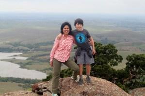 Wichita Mountains Wildlife Refuge: Mt. Scott summit with my son.