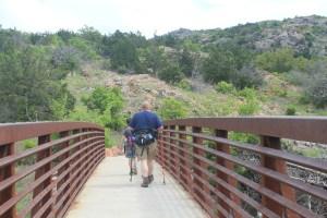 Wichita Mountains Wildlife Refuge: the beginning of Elk Mountain Trail.