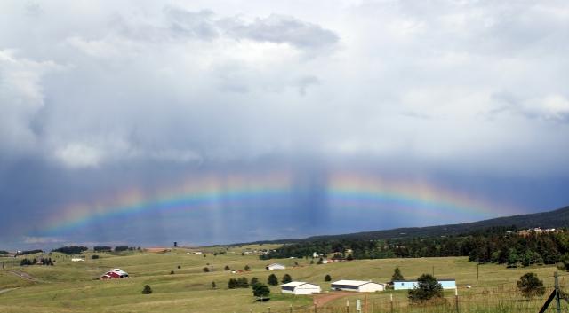 Colorado One Week Unplanned Trip: a rainbow above Colorado Springs.