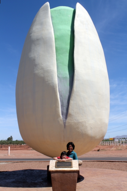 World's Largest Pistachio - McGinn's Pistachio Tree Ranch, Alamogordo, New Mexico - Two Worlds Treasures