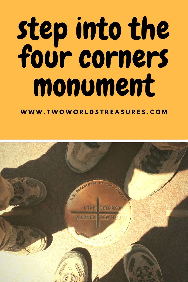 Step into the four corners monument - summer road trip - Two Worlds Treasures