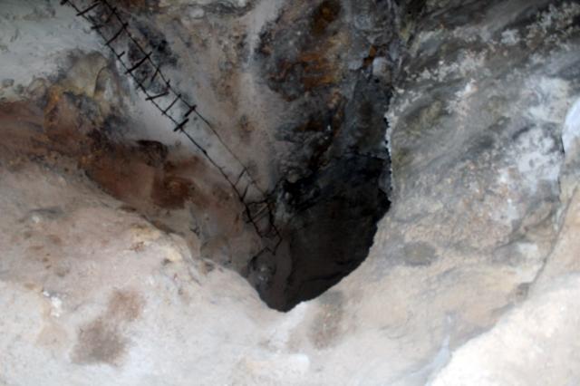 Carlsbad Caverns NP, Big Room tour, an old ladder.