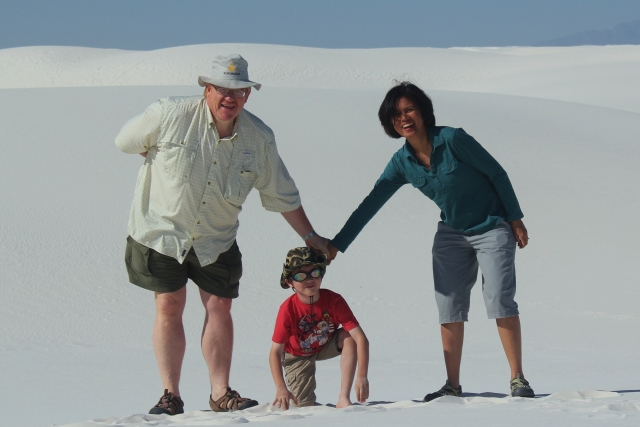 Our family at White Sands National Monument