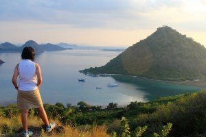 Two Worlds Treasures-a view from Bukit Amelia, Waecicu, Labuan Bajo, Flores.