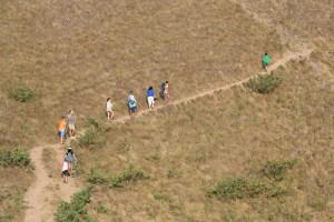 Two Worlds Treasures - trekking trail at Padar Island, Flores.