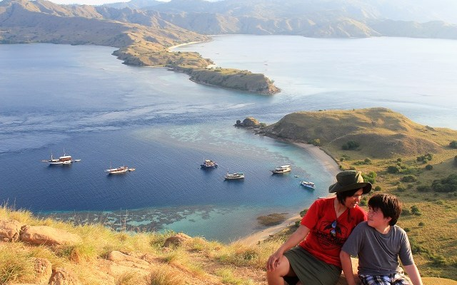 Two Worlds Treasures - at the top of Gili Lawa, Flores, Indonesia.