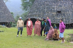 Two Worlds Treasures: men with sarong: Wae Rebo, Flores, Indonesia.