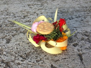 Visiting Bali with a 10-year-old boy - Bali offering - Two Worlds Treasures