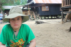 Island Hopping Flores, Indonesia - Day 1 - Rinca Island, J with Komodo dragons - Two Worlds Treasures