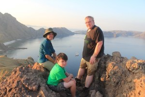 Island Hopping Flores, Indonesia - Day 1 - Padar Island, us at the top - Two Worlds Treasures