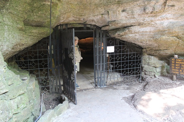 Longhorn Cavern - the entrance - Burnet, TX - Two Worlds Treasures
