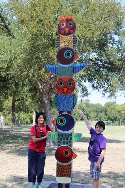 Hanna Springs Sculpture Garden - Lampasas TX - Bird Totem - Two Worlds Treasures