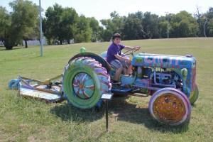 Hanna Springs Sculpture Garden - Lampasas TX - Tractor - Two Worlds Treasures