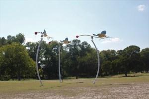 Hanna Springs Sculpture Garden - Lampasas TX - Meadow Dancers - Two Worlds Treasures