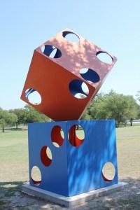 Hanna Springs Sculpture Garden - Lampasas TX - Dice - Two Worlds Treasures