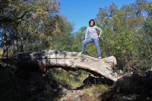 Twin Falls Nature Trail - me Chasing a Dramatic Fall Scene in Texas - Two Worlds Treasures