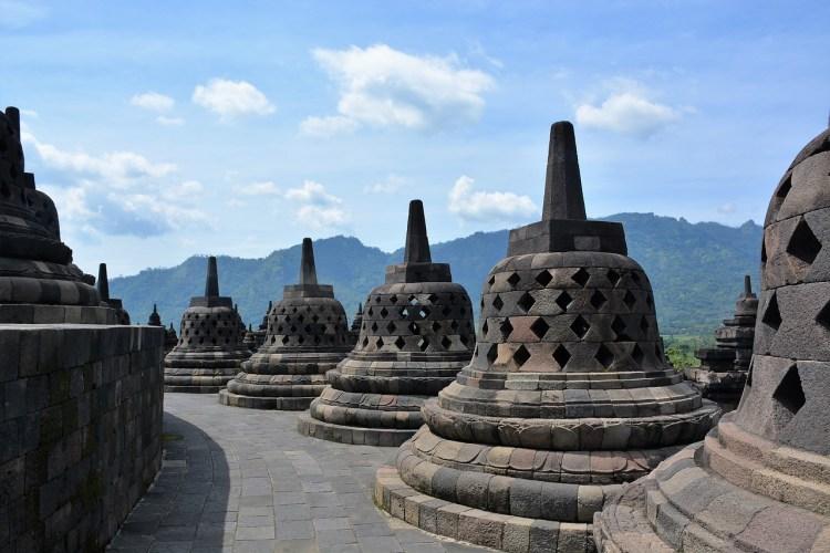 Borobudur temple - stupas