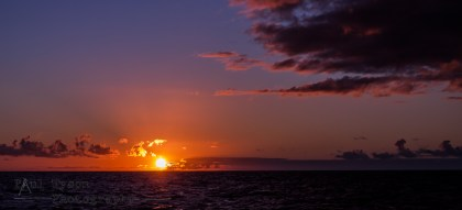 Sunset at Sea on St Helena Island 2