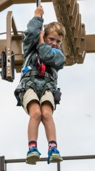 Oliver was very nervous, he has a fear of heights but struggled through it, feeling proud of his achievement in the end.