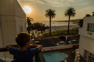 Oliver checking out the view on our first night.