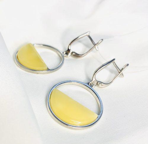 серьги из сереьра с янтарем,купить серьги из сереьра с янтарем,серьги серебро,TwoZi
