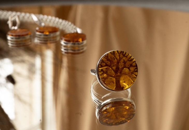 Серьги,кольца,кулоны вставка янтарь. Серия Древо жизни