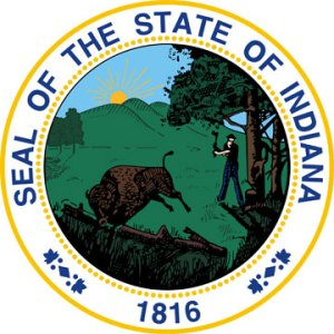 Image of the State Seal of Indiana for the Assistance Page of the Charlestown Township Trustee