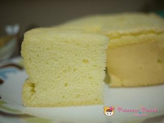 清水蛋糕剖面圖