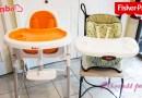 [美國育兒] 兒童餐椅心得分享 (Bimbo vs. Fisher Price)~!!