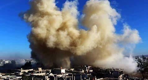 داريا/اشتباكات على اطراف المدينة وقصف النظام للمدينة بالبراميل المتفجرة
